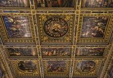 Binnenland van Palazzo Vecchio, Florence, Italië Royalty-vrije Stock Fotografie