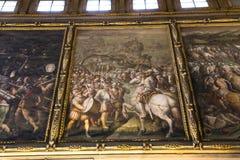 Binnenland van Palazzo Vecchio, Florence, Italië Stock Afbeelding