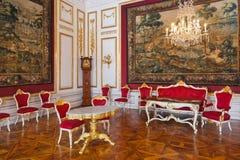 Binnenland van paleis in Salzburg Oostenrijk Stock Foto