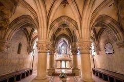Binnenland van Pannonhalma-basiliek, Pannonhalma, Hongarije stock foto's