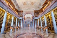 Binnenland van Pannonhalma-bibliotheek, Pannonhalma, Hongarije stock afbeeldingen