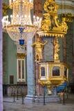 Binnenland van Peter en van Paul kathedraal in Vesting, St. Petersburg, Rusland Royalty-vrije Stock Afbeelding