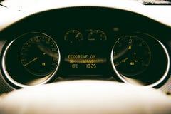 Binnenland van prestige moderne auto stock afbeeldingen