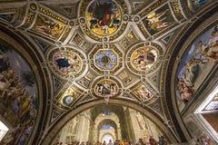 Binnenland van Raphael-ruimten, het museum van Vatikaan, Vatikaan Stock Afbeelding