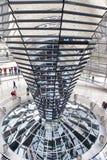 Binnenland van Reichstag-koepel in Berlijn, Duitsland Royalty-vrije Stock Foto