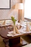 Binnenland van restaurant Stock Foto's