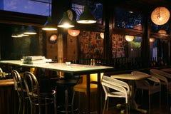 Binnenland van restaurant Royalty-vrije Stock Foto's