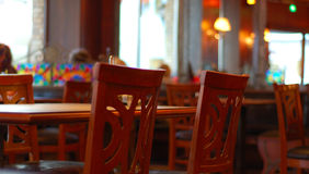 Binnenland van restaurant, koffie Royalty-vrije Stock Afbeeldingen
