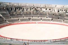 Binnenland van Roman arena in Nîmes royalty-vrije stock afbeelding