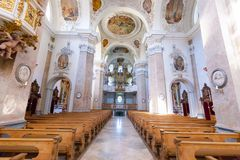 Binnenland van Roman Catholic Church stock foto