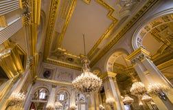 Binnenland van Royal Palace, Brussel, België stock foto's