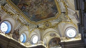 Binnenland van Royal Palace van Madrid Stock Fotografie