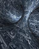 Binnenland van ruimteschip Stock Fotografie