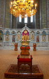 Binnenland van Russische orthodoxe kathedraal Royalty-vrije Stock Afbeeldingen
