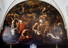 Binnenland van sainte Anne chrurch, Brugge, België Royalty-vrije Stock Afbeelding