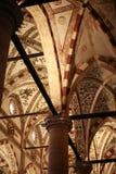 Binnenland van Sant ` Anastasia Church in de stad van Verona Royalty-vrije Stock Afbeelding