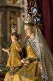 Binnenland van Sant ` Anastasia Church in Verona, Italië Sant ` Anastasia is een kerk van de Dominicaanse Orde in Verona, Royalty-vrije Stock Afbeeldingen