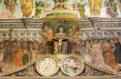 Binnenland van Sant ` Anastasia Church in Verona, Italië Sant ` Anastasia is een kerk van de Dominicaanse Orde in Verona, Stock Afbeelding