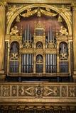Binnenland van Sant ` Anastasia Church in Verona, Italië Sant ` Anastasia is een kerk van de Dominicaanse Orde in Verona Royalty-vrije Stock Afbeelding