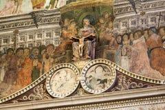 Binnenland van Sant ` Anastasia Church in Verona, Italië Sant ` Anastasia is een kerk van de Dominicaanse Orde in Verona Royalty-vrije Stock Fotografie