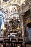 Binnenland van Santa Maria Maddalena Church in Alba, Italië royalty-vrije stock foto