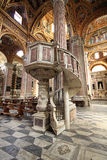Binnenland van Santissima Annunziata del Vastato, Katholieke kerk i Royalty-vrije Stock Foto's