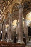 Binnenland van Santissima Annunziata del Vastato, Katholieke kerk i Stock Foto