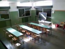 Binnenland van school: klaslokaal Royalty-vrije Stock Foto's
