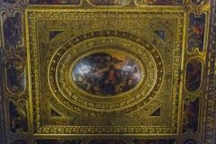 Binnenland van Scuola Rocco, Venetië stock foto