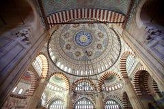 Binnenland van Selimiye-Moskee, Edirne royalty-vrije stock afbeelding