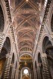 Binnenland van Sienna Cathedral royalty-vrije stock afbeelding