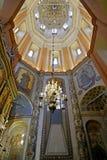Binnenland van St Basilicum` s Kathedraal op Rood vierkant, Moskou, Rusland royalty-vrije stock fotografie