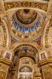 Binnenland van St Isaac Cathedral stock foto