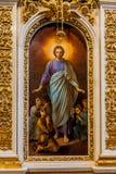 Binnenland van St Isaac Cathedral stock afbeelding