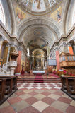 Binnenland van St John basiliek, Eger, Hongarije stock foto's