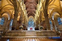 Binnenland van st Mary kathedraal in Sydney Stock Fotografie