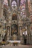 Binnenland van St Marys Kathedraal in Erfurt Stock Fotografie
