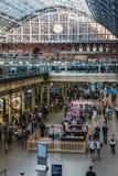 Binnenland van St Pancras Internationale Post, Londen, het UK Royalty-vrije Stock Fotografie