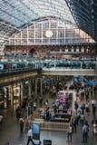 Binnenland van St Pancras Internationale Post, Londen, het UK Stock Afbeelding