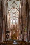 Binnenland van St Peters Church in Riga, Letland Stock Fotografie
