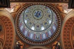 Binnenland van St Stephen Basilica stock afbeelding