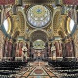 Binnenland van St Stephen ` s Basiliek in Boedapest, Hongarije Stock Afbeelding