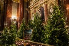 Binnenland van St Stephen s Basiliek in Boedapest, Hongarije royalty-vrije stock foto's