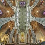 Binnenland van St Vitus kathedraal in Praag, Tsjechische Republiek Stock Afbeelding
