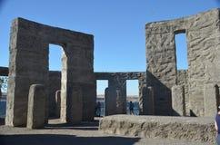 Binnenland van Stonehenge-Gedenkteken dichtbij Maryville, Washington stock foto's