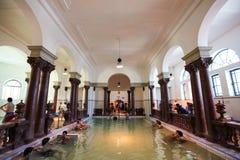 Binnenland van Szechenyi Spa (Bad, Therms) in Boedapest Stock Afbeelding