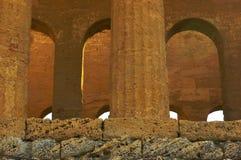 Binnenland van Tempel in Agrigento Royalty-vrije Stock Foto