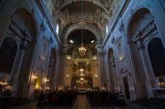 Binnenland van theSanta Maria del Carmine in Florence, Italië Royalty-vrije Stock Foto