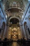 Binnenland van theSanta Maria del Carmine in Florence, Italië Stock Foto's