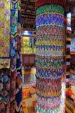 Binnenland van Tibetaanse Boeddhistische tempel royalty-vrije stock foto